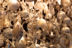 Glittery Christmas decorations Royalty Free Stock Photography