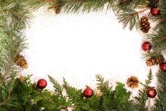 Glittery Christmas foliage frame Royalty Free Stock Image