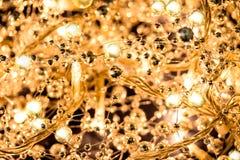 Glittery Christmas lights Stock Photos