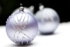 Glittery Christmas ornament ball Stock Images