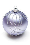 Glittery Christmas ornament ball Royalty Free Stock Image