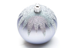Glittery Christmas ornament ball Royalty Free Stock Photography