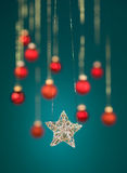 Glittery christmas star Stock Images