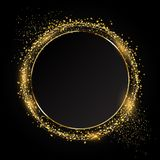 Glittery circle background ideal for festive celebration. Glittery circle background ideal for the festive celebration royalty free illustration