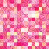 Glittery colorful vector background of two patterns. Abstract bright colored background composed of a textured squares pattern in two layers with glittery Royalty Free Stock Image