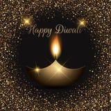 Glittery Diwali celebration background Stock Photography