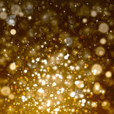 Glittery festive abstract background. Glittery beautiful bokeh background with stars Stock Photos