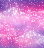 Glittery festive background. With stars Stock Images