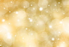 Glittery gold background Stock Images