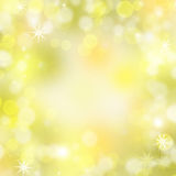 Glittery gold Christmas background Stock Images