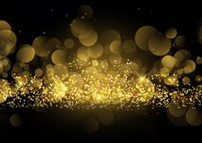 Glittery gold sparkle background Royalty Free Stock Images