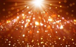 Glittery golden festive background Royalty Free Stock Image