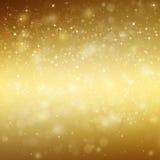 Glittery golden  festive background Stock Photo