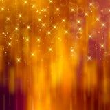 Glittery golden festive background Stock Photography