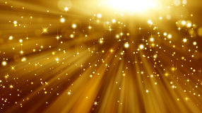 Glittery golden festive background Royalty Free Stock Images