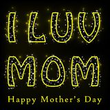 Glittery Happy Mother's Day. Easy to edit vector illustration of glittery Happy Mother's Day Stock Images