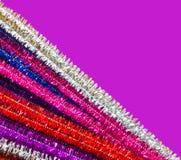 Glittery Pfeifenreiniger Stockfotos
