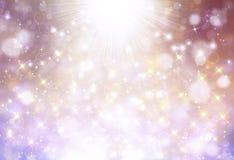 Glittery piękny bokeh tło Fotografia Stock