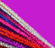 Glittery pipe cleaners Stock Photos