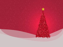 Glittery red Christmas design - with copyspace for your greeting. Minimalistic, textured greetings card or background Royalty Free Stock Photography