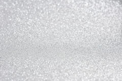 Glittery shiny lights silver abstract background stock photography