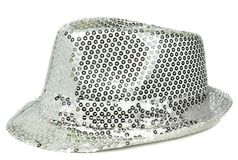 A silver sequin party hat Royalty Free Stock Photo