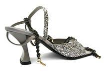 glittery sko Fotografering för Bildbyråer