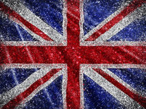 Glittery Union Jack Flag background Stock Photography