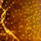 Glittery złoty świąteczny tło Obraz Royalty Free