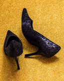 Glitteryschoenen Royalty-vrije Stock Fotografie