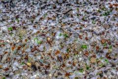 Glittra färgrika dolde ädelstenar av strandexponeringsglas Royaltyfri Foto