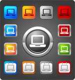 Glitz icons - laptop. Laptop icon in various styles Stock Image