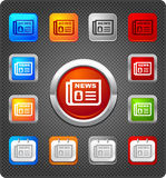Glitz icons - News. Newspaper icon in various styles Royalty Free Stock Images
