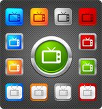 Glitz icons - old television Royalty Free Stock Images