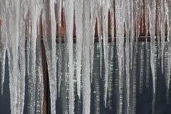 Glitzernde Eiszapfen in Utah Lizenzfreie Stockfotografie