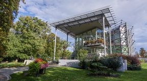 GLIWICE, POLAND - SEPTEMBER 14, 2017: Palm House in Chopin Park Stock Photo