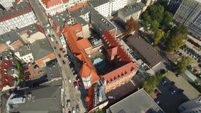 Gliwice, Silesia, Polonia - vista aérea del centro de ciudad de Gliwice