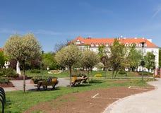 Gliwice, widok miasto kwadrat/ Fotografia Royalty Free
