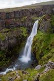 Gljúfursà ¡ rfoss瀑布在东冰岛 库存图片