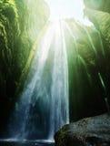 Gljufrabui waterfalls inside a cave Stock Photography
