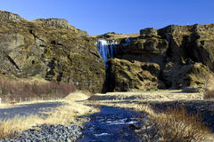 Gljufrafoss Waterfall, Iceland Royalty Free Stock Photos