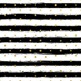 Gllitter gold striped wallpaper. Paint brush strokes background. Royalty Free Stock Photos
