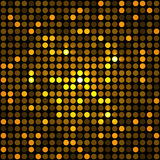 Glänsande guld- Dots Disco Mosaic Background Arkivbilder