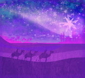 glänsande stjärna av Betlehem Royaltyfria Foton