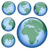 Glänzende Erdekarte Lizenzfreie Stockfotos