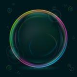 Glänzende Luftblasen Stockbild