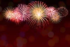 Glänzender Feuerwerkshintergrund Stockfoto