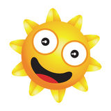 Glänzender kleiner glücklicher Sonnenvektor Stockfotos
