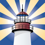 Glänzender Leuchtturm Stockbild