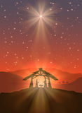 Glänzender Weihnachtsstern Stockbilder